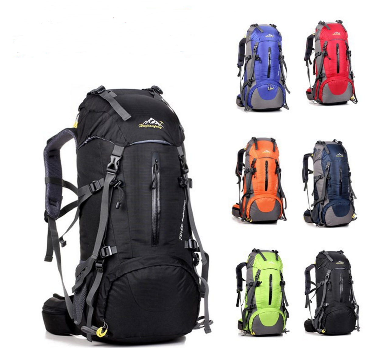 Large 40L Lightweight Water Resistant Travel Backpack/foldable & Packable Hiking Daypack