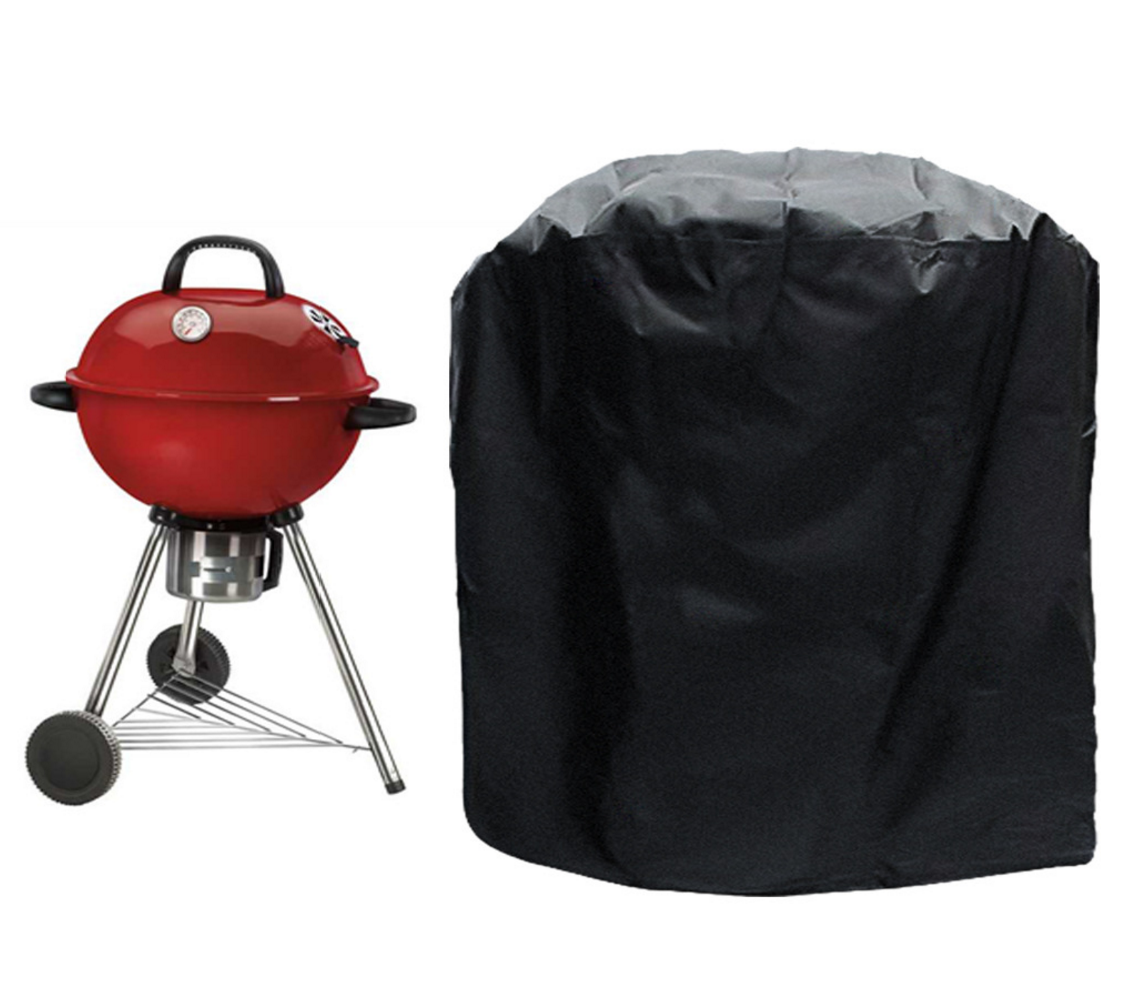 Grill Cover- UV PROTECTION 60 Inch 600D Heavy-Duty water proof patio outdoor black CANVAS BBQ Barbecue Smoker/Grill Cover