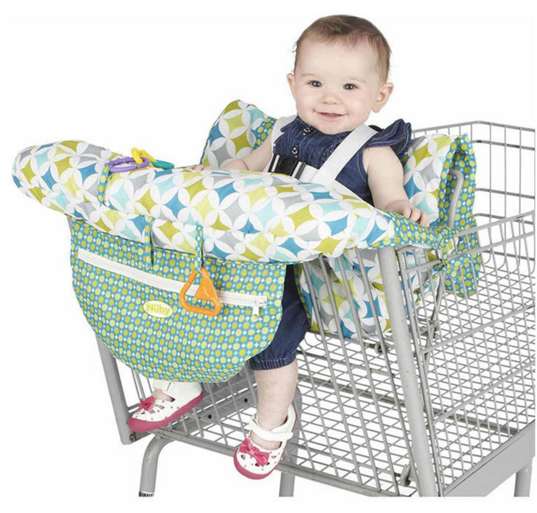Baby Shopping Cart Cover & High Chair Covers with Safety Harness for Babies & Toddler