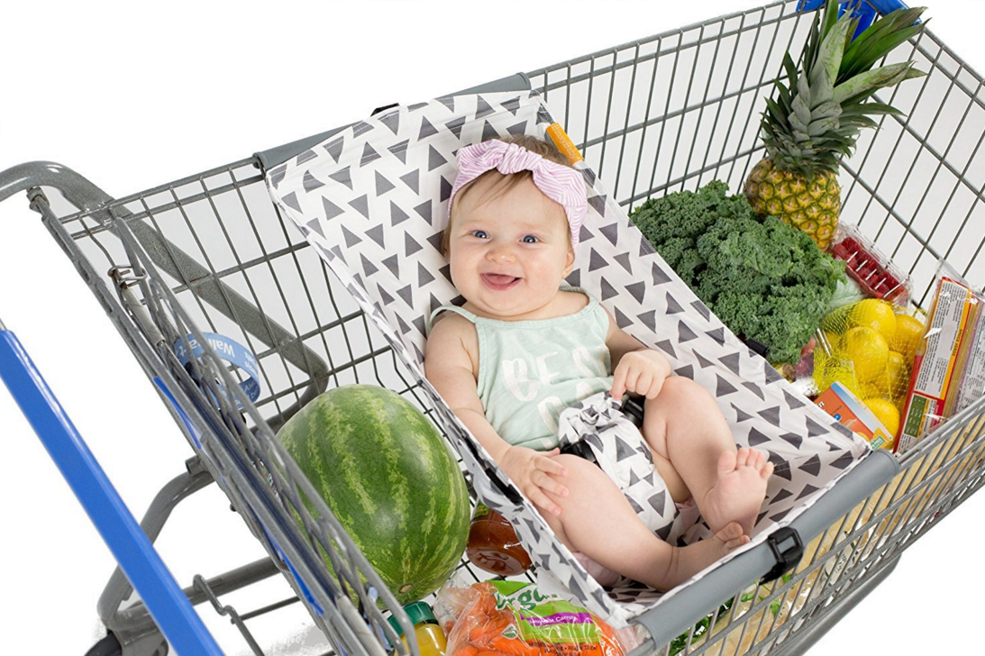 aby Shopping cart Hammock. Suits New Born Infant, Portable cart seat Cover, with Safety Harness