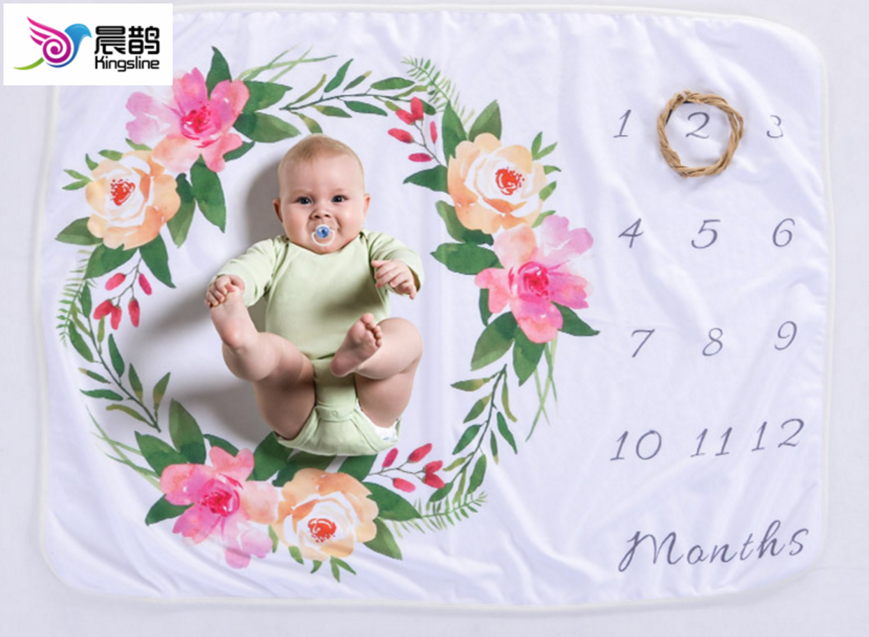 Weekly Or Monthly Newborn Milestone Baby Blanket Photography Background Baby Shower Gift