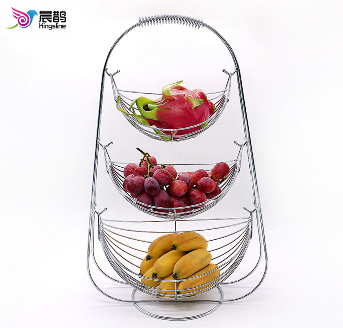 3 Tier metal Hanging Fruit Basket