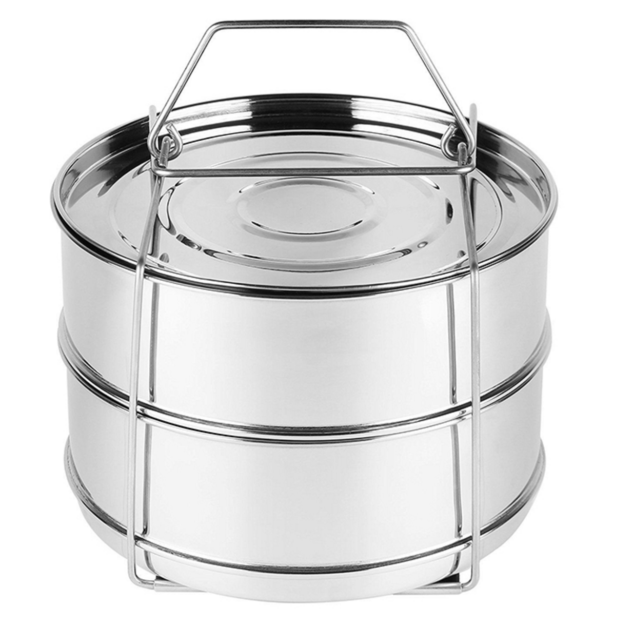 2018 Popular Stackable Stainless Steel High Pressure Cooker Steamer Basket with Lid