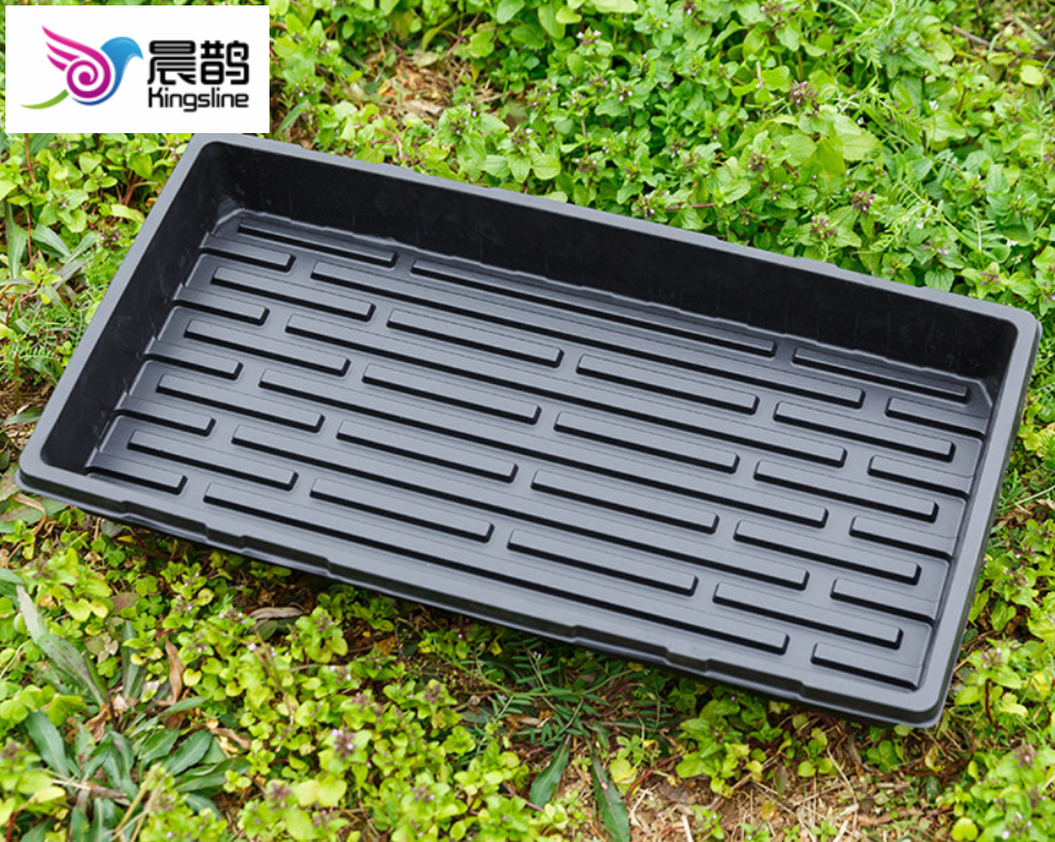 Durable Black Plastic Growing Trays (Without Drain Holes)